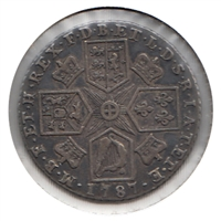Great Britain 1787 Hearts Shilling Extra Fine (EF-40)