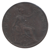 Great Britain 1901 Penny Token VF-EF (VF-30)