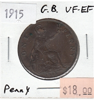 Great Britain 1915 Penny Token VF-EF (VF-30)