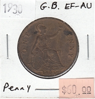 Great Britain 1930 Penny Token EF-AU (EF-45)