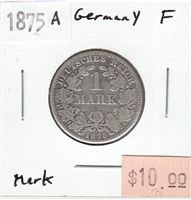 Germany 1875A Mark Fine (F-12)