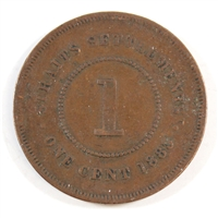 Straits Settlements 1883 Cent F-VF
