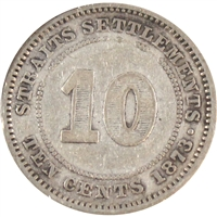 Straits Settlements 1873 10 Cents Very Good