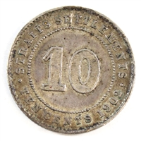Straits Settlements 1902 10 Cents VF-EF