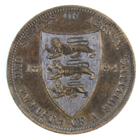 Jersey 1894 1/12 Shilling Almost Uncirculated