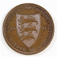 Jersey 1911 1/12 Shilling Uncirculated
