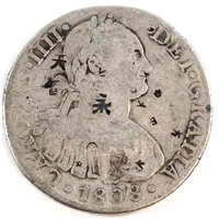 Mexico 1808OM With Chinese Chopmarks 8 Reales Fine