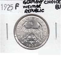 Germany Weimar Republic 1925F 2 Reich Mark Choice BU (MS-64)