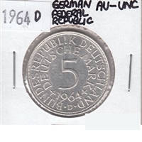 Germany Federal Republic 1964D 5 Mark AU-UNC