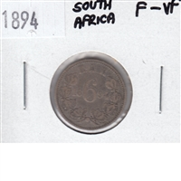 South Africa 1894 6 Pence F-VF
