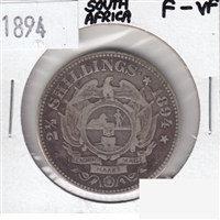 South Africa 1894 2 1/2 Shillings F-VF