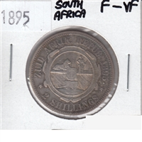 South Africa 1895 2 Shillings F-VF