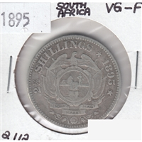 South Africa 1895 2 1/2 Shillings VG-F