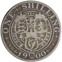 Great Britain 1900 Shilling VG-F (VG-10)