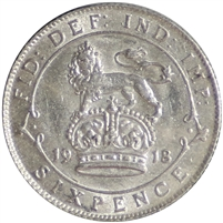 Great Britain 1918 6 Pence Extra Fine (EF-40)