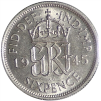 Great Britain 1945 6 Pence UNC (MS-60)