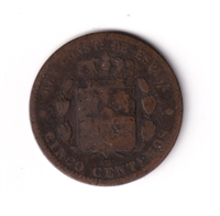 Spain 18778 OM 5 Centimos Very Fine (VF-20)