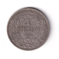 South Africa 1896 Shilling VF-EF (VF-30) $