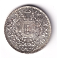 Portugal 1916 50 Centavos Brilliant Uncirculated (MS-63) $