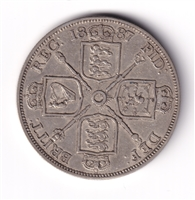 Great Britain 1887 Double Florin Extra Fine (EF-40) $