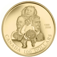 2009 Canada $100 10th Anniversary of Nunavut 14K Gold Coin