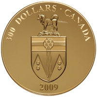 2009 Canada $300 14-Karat Gold Coin - Yukon Coat of Arms (sleeve lightly worn)
