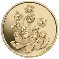 2009 Canada $350 Pitcher Plant Pure Gold Coin (No Tax)