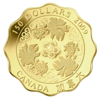 2009 Canada $150 Blessings of Wealth Pure Gold Coin (TAX Exempt)