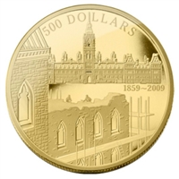 2009 Canada $500 Construction of Parliament Anniversary 5oz. Gold (No Tax)