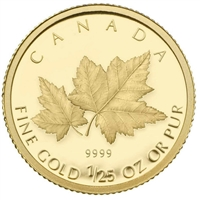 2009 Canada 50-Cent Red Maple 1/25oz Gold Coin (TAX Exempt)