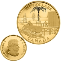 2010 Canada $200 22-Karat - Petroleum and Oil Trade Gold Coin.