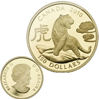 2010 Canada $150 Lunar Year of the Tiger Lunar 18K Gold Coin