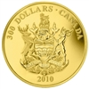 2010 Canada $300 British Columbia Coat of Arms 14K Gold Coin