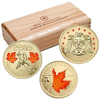2007-2010 Canada $50 Special Edition Olympic Gold Coin Set (TAX Exempt)