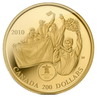 2010 Canada $200 First Olympic 22K Gold Medal on Home Soil 22K Gold