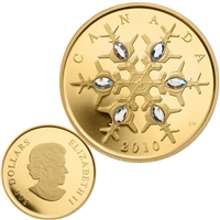 2010 Canada $300 Crystal Snowflake 14K Gold Coin