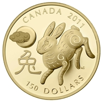 2011 Canada $150 Lunar Year of the Rabbit Lunar 18K Gold Coin