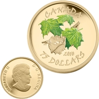2010 Canada $75 Maple Leaf - Spring (birds nest) 14K Gold Coin