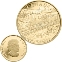 2011 Canada $100 Anniversary of the First Rail Road 14K Gold