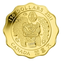 2011 Canada $150 Blessings of Happiness Pure Gold Coin (TAX Exempt)