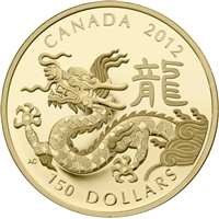 2012 Canada $150 Lunar Year of the Dragon Lunar 18K Gold Coin