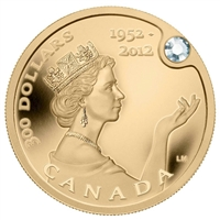 2012 Canada $300 Queen's Diamond Jubilee with Canadian Diamond (No Tax)