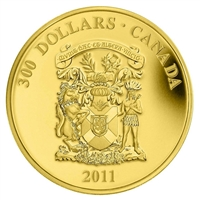 2011 Canada $300 14k Gold Coin - Nova Scotia Coat of Arms