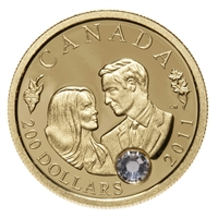 2011 Canada $200 Wedding of HRH Duke & Duchess of Cambridge 22K Gold