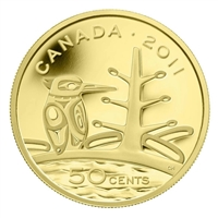 2011 Canada 50-cent Boreal Forest 1/25oz. Fine Gold Coin (No Tax)