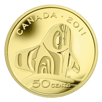 2011 Canada 50-cent Orca Whale 1/25oz. Fine Gold Coin (TAX Exempt)