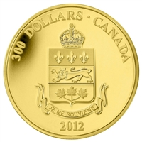 2012 Canada $300 Quebec Coat of Arms 14K Gold (capsule lightly scratched)