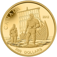 2012 Canada $200 The Vikings 24K Pure Gold Coin (TAX Exempt)