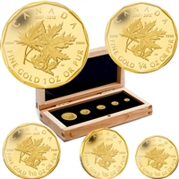 2012 Canada Gold Maple Leaf Set - 5th Ann. RCM Million Dollar (No Tax)