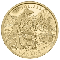 2012 Canada $100 Cariboo Gold Rush 150th Anniversary 14K Gold Coin